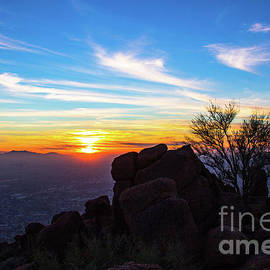 Amy Sorvillo - Sunset Over Phoenix Arizona from Camelback Mountain