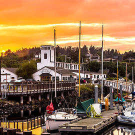 Sunset Over Port Townsend by TL  Mair