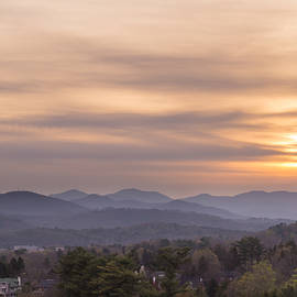 Sunset Over The Blue Ridge In Asheville, Nc by MM Anderson