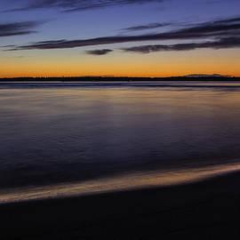 Sunset Over The Merrimack River Plum Island by Betty Denise