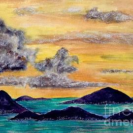 Sunset over The Virgin Islands by Joan-Violet Stretch
