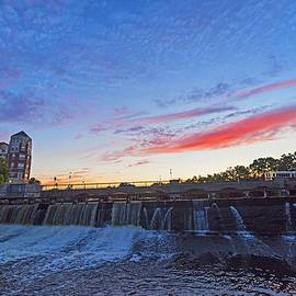 Sunset Over Waltham Charles River Waltham Ma by Toby McGuire