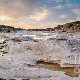 Silvio Ligutti - Sunset Panorama of the Pedernales River at Pedernales Falls State Park - Jonhson City Hill Country