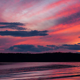 Sunset Red Lake by Keith Smith