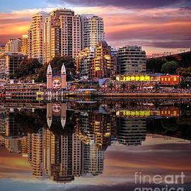 Sunset Reflections 2 - Luna Park by Kaye Menner
