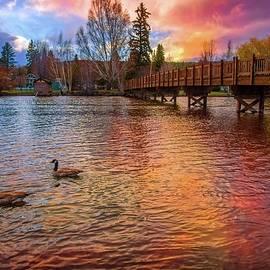 Lynn Bauer - Sunset Reflections at Drake Park