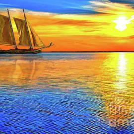 Sunset Sailboat Outer Banks AP by Dan Carmichael
