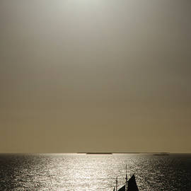 Sunset Schooner by Arthur Dodd