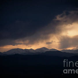 Bob Hislop - Sunset storm over the Rockies
