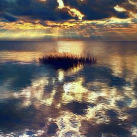 Dan Carmichael - Sunset Sunbeams on Pamlico Sound Outer Banks AP