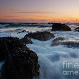 Sunset Tidal Surge by Mike Dawson