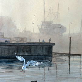 Bill Hudson - Sunup at the Docks
