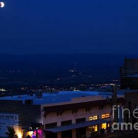 Super Full Moon 1/2 Eclipse Over Jerome Az by Ron Chilston