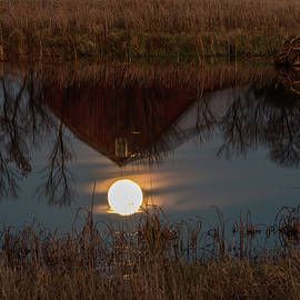 Super Moon and Barn Series #4 by Patti Deters