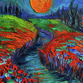 Mona Edulesco - Supermoon And Poppies