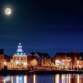 Supermoon rising over Norfolk town UK by Simon Bratt Photography LRPS