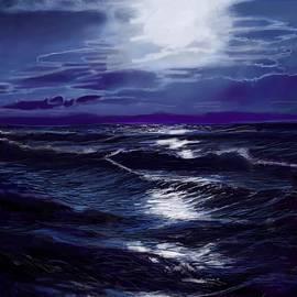 Lincoln Howes - Surf under Moonlight