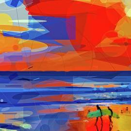 Surfers Abstract by Alice Gipson