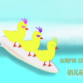 Surfie Chicks Rule 2 by Barefoot Bodeez Art
