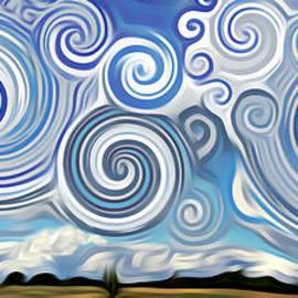 Lisa Arbitrary - Surreal Cloud Blue