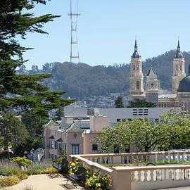 Sutro Tower and St Ignatius Church San Francisco California 5d3278