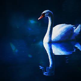 Ericamaxine Price - Swan Beneath the Blue Moon - Painting