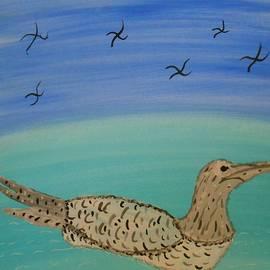 Denise Davis - Swan Swimming