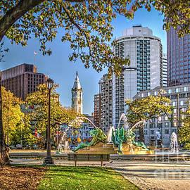 Philadelphia City Hall Swann Fountain by David Zanzinger