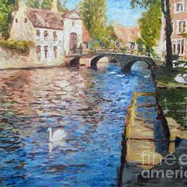 Helen Sviderskis - Swans of the city of Bruges, Belgium.