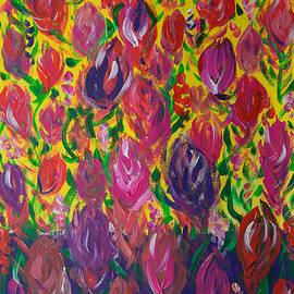 Yuri Hope - Sweet peas. Blooming meadow