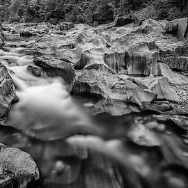 Swift River in Coos Canyon in Black and White - Rick Berk