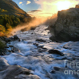 Adam Jewell - Swiftcurrent Falls Fiery Sunrise