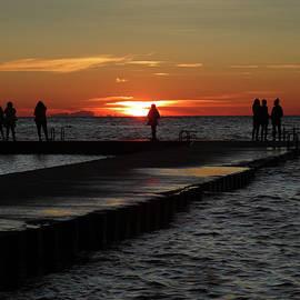 David T Wilkinson - Swimming Dock Sunset Silhouette