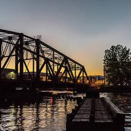 Randy Scherkenbach - Swing Bridge Sunset