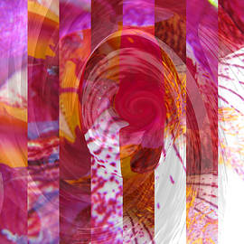 Swirly Twirly Girly Iris - Manipulated Iris Photography - Abstract Iris Art by Brooks Garten Hauschild