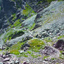 Switchbacks Below Comeau Pass by Alex Blondeau