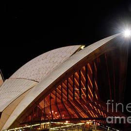 Kaye Menner - Sydney Opera House Close View by Kaye Menner