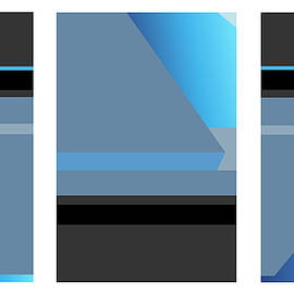 Symphony In Blue - Triptych 1 by David Hargreaves
