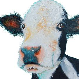T-Shirt with cow design by Jan Matson