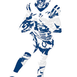 T Y HILTON INDIANAPOLIS COLTS PIXEL ART 1 - Joe Hamilton