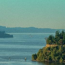 Tacoma Narrows And Commencement Bay by E Faithe Lester