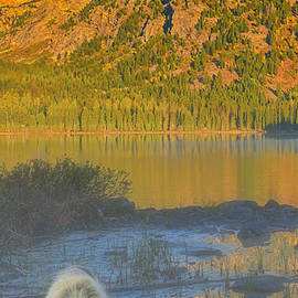 Taggart Lake Triptych Left Panel by Greg Norrell