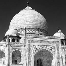 Taj Mahal Architecture Closeup BW by Rene Triay Photography