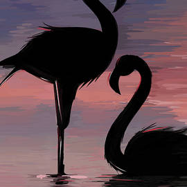 Flamingo Broken Heart by Mark Tonelli