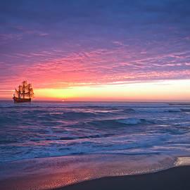 Debra and Dave Vanderlaan - Tall Ship at Dawn