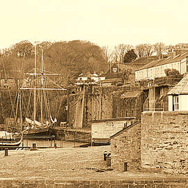 Tall Ships Wintering In Charlestown by Peter Hunt