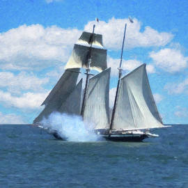 Tallship Firing Cannon - Pmp931605 by Dean Wittle