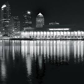 Skyline Photos of America - Tampa Black and White