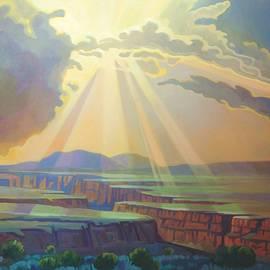 Taos Gorge God Rays by Art West