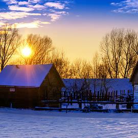 Tarchomin Sunset by Tomasz Dziubinski
